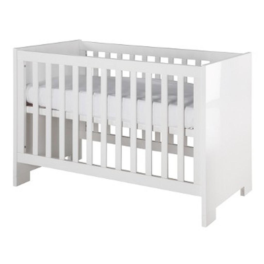 Dětská postýlka Europe Baby Brilliant white glossy 70 x 140 cm přestavitelná