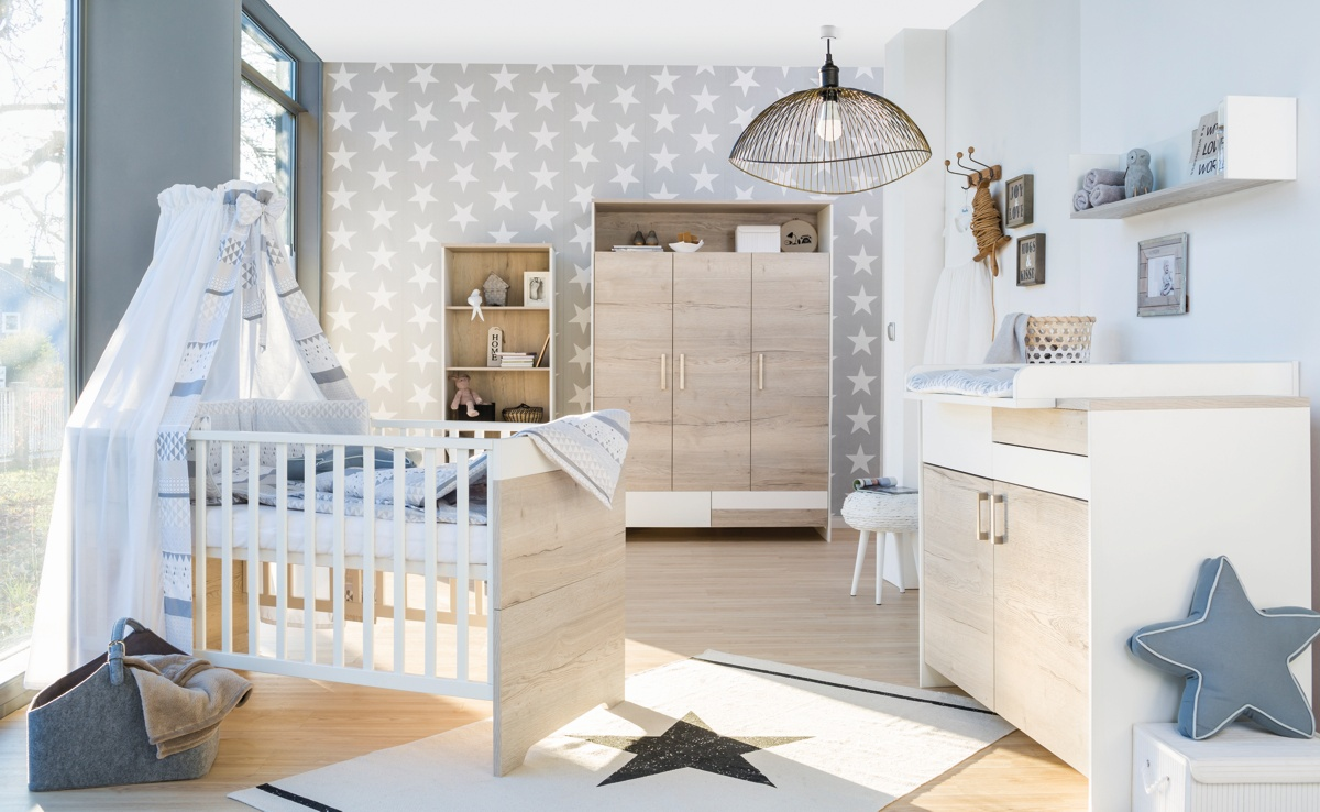 Dětský pokoj Schardt CLOU OAK s 3-dílnou skříní