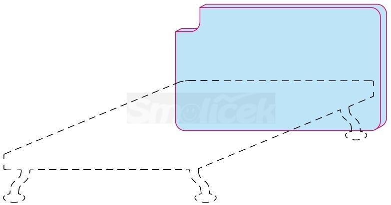 Čelo postele Colombini GOLF SCHEMA – šířka 128 cm