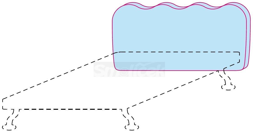 Čelo postele Colombini GOLF WAVE – šířka 128 cm