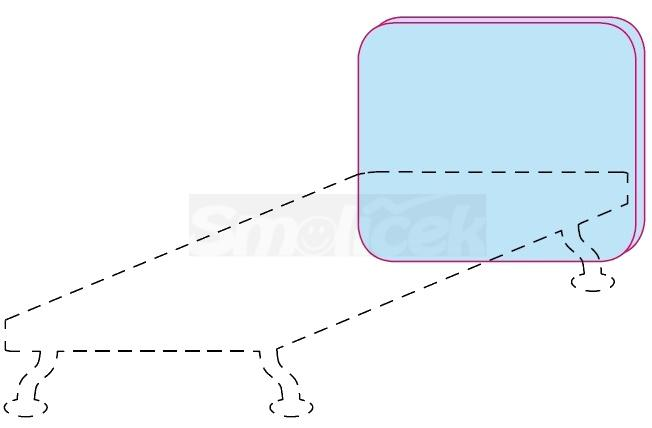 Čelo postele Colombini GOLF POLDO – šířka 88 cm
