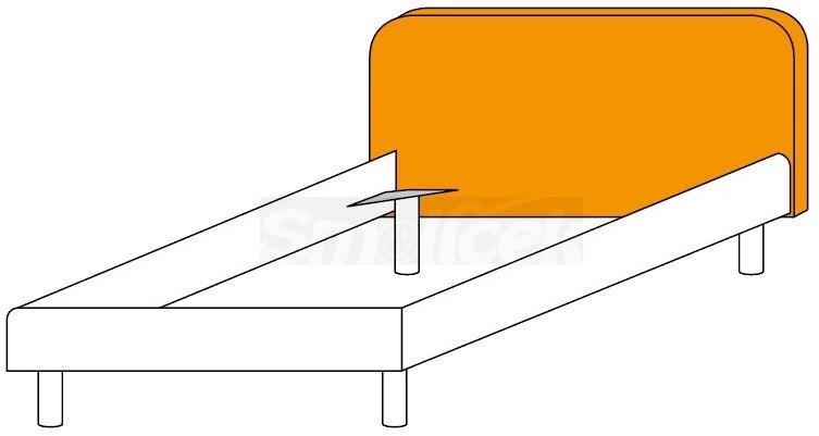 Čalouněné čelo postele Colombini GOLF RAFAEL– šířka 121