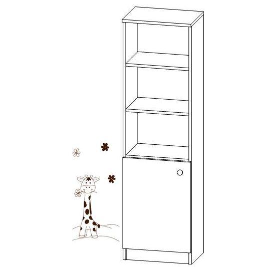 Kombinovaný regál na hračky Faktum MIA Bílý/motiv Žirafa