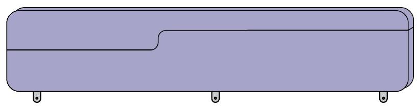 Zábrana k posteli Colombini GOLF LOVE 183 cm
