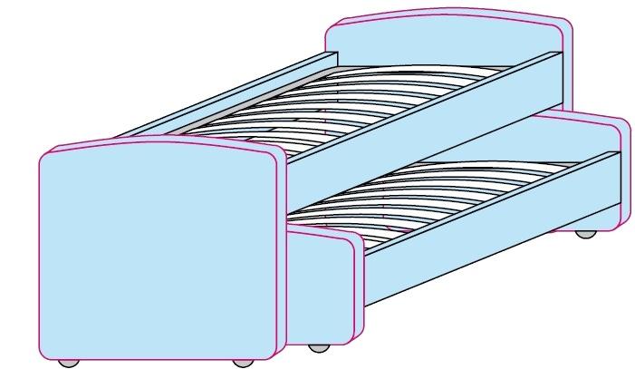 Výsuvné postele Colombini GOLF 2ks