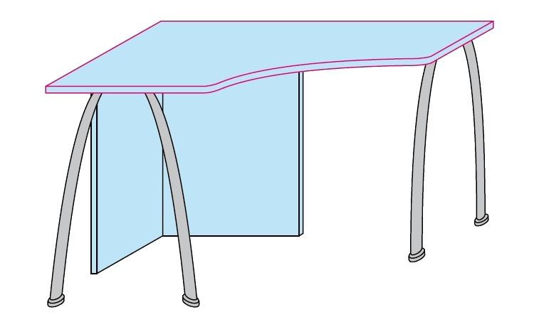 Psací stůl Colombini GOLF rohový