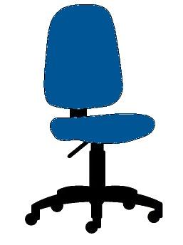 Psací stoly a židle | Židle | Židle Colombini GOLF modrá ...