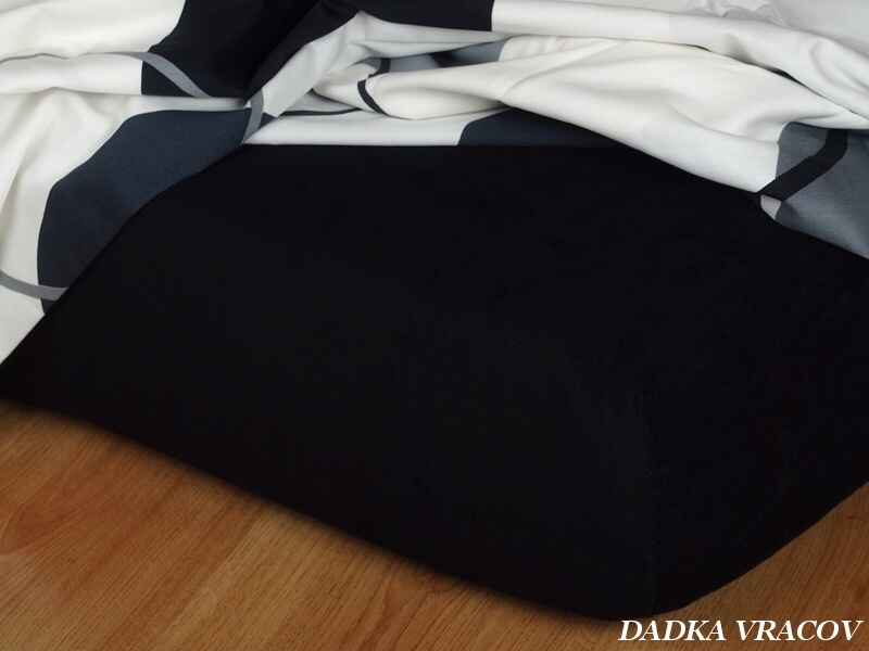 Prostěradlo Dadka froté černé 90 x 200 cm