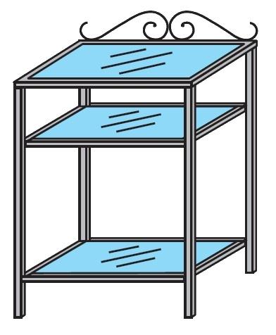 Železný servírovací stolek Colombini ARCADIA