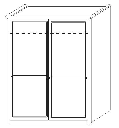 Dvoudílná šatní skříň Colombini ARCADIA s posuvnými dveřmi