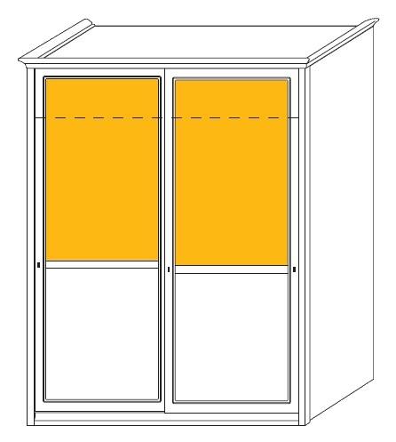 Dvoudílná šatní skříň s posuvnými dveřmi Colombini ARCADIA