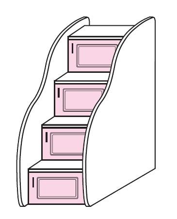 Schůdky k vysoké posteli Colombini ARCADIA