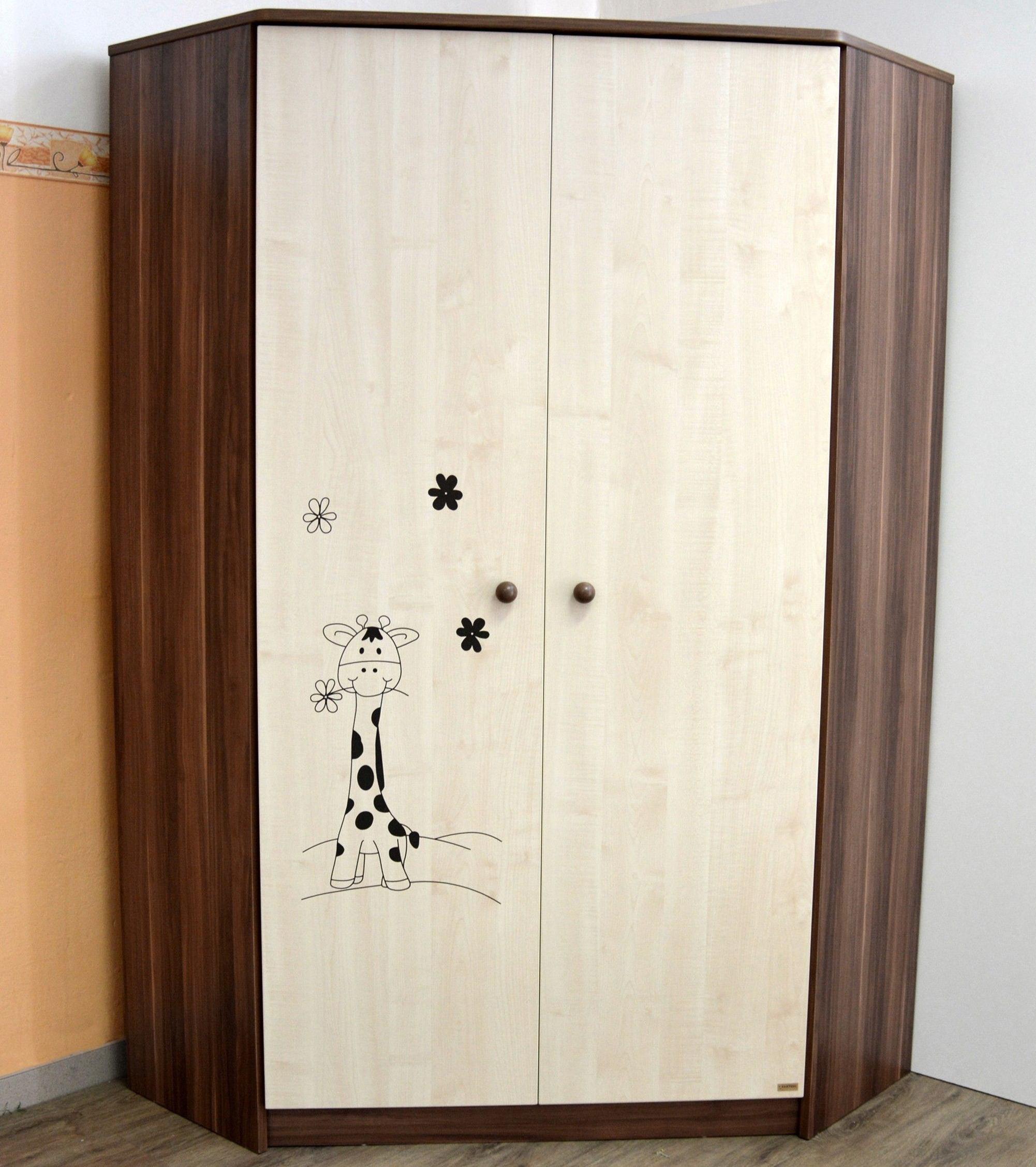 Rohová šatní skříň Faktum MAKAÓ motiv Žirafa
