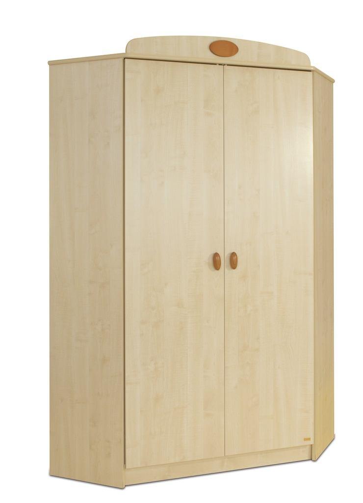 Rohová šatní skříň Faktum NELLI Třešeň