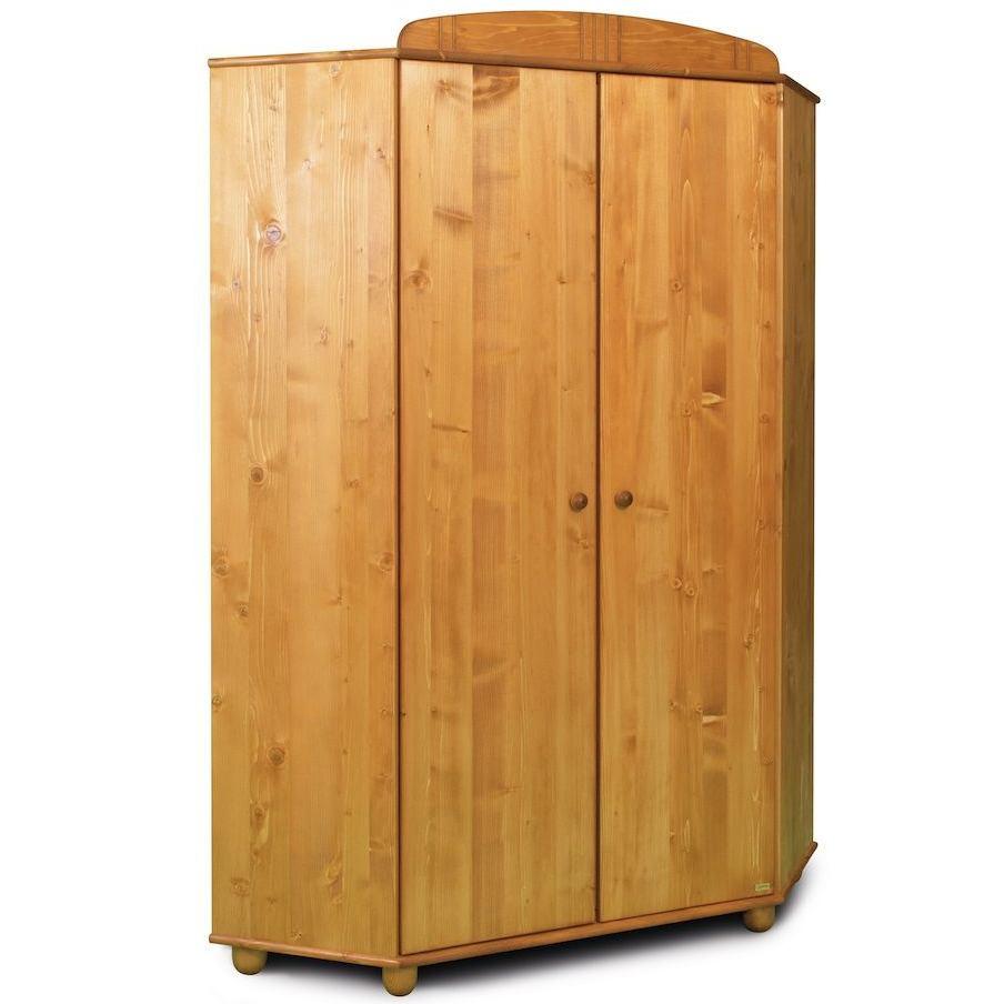 Rohová šatní skříň Faktum TOMI Borovice