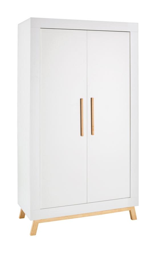 Šatní skříň dvoudílná Schardt MIAMI WHITE