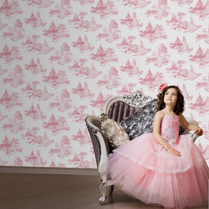 Dětská tapeta Princess Pink Toile