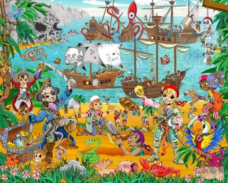 Obrazová tapeta Vavex Piráti a hledači pokladů