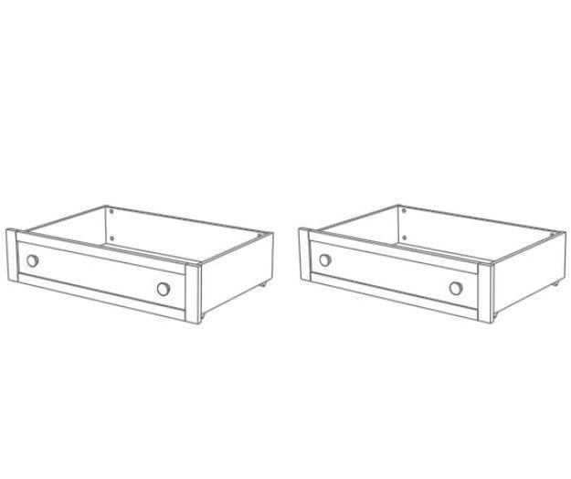 Zásuvky pod postel Trama COMBI ROMANTICA White