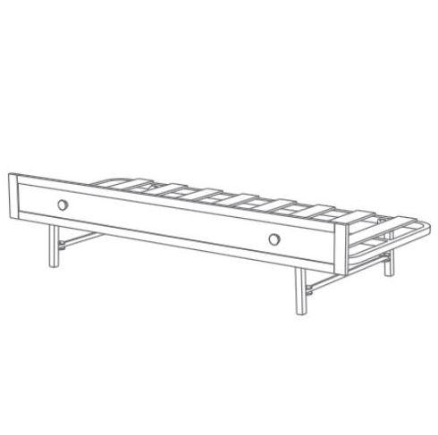 Zásuvné lůžko pod postel Trama COMBI ROMANTICA White 80 cm