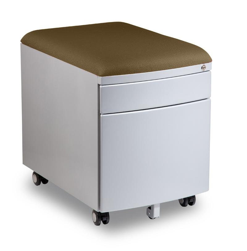Kontejner k psacímu stolu Mayer PROFI3 světle hnědý čalouněný