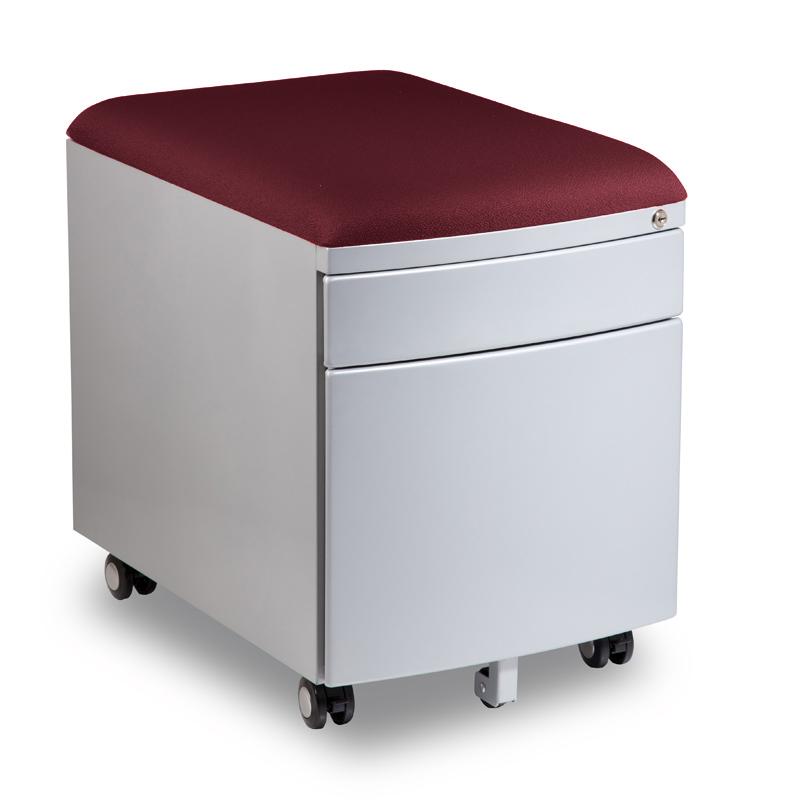 Kontejner k psacímu stolu Mayer PROFI3 vínový čalouněný