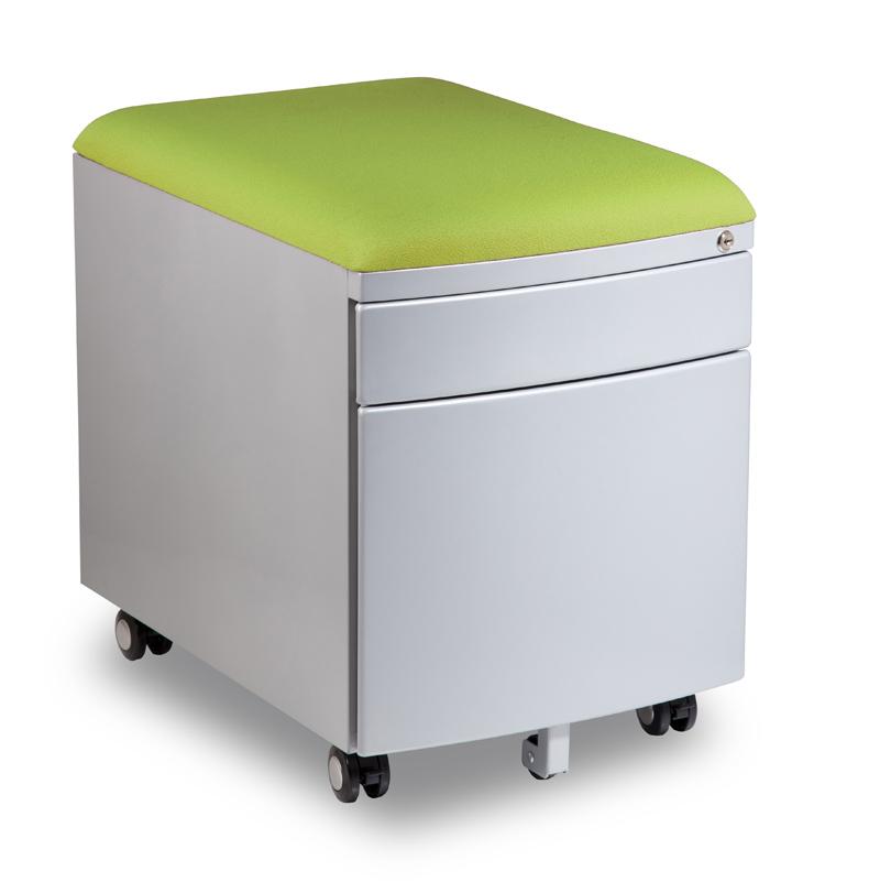 Kontejner k psacímu stolu Mayer PROFI3 zelený čalouněný