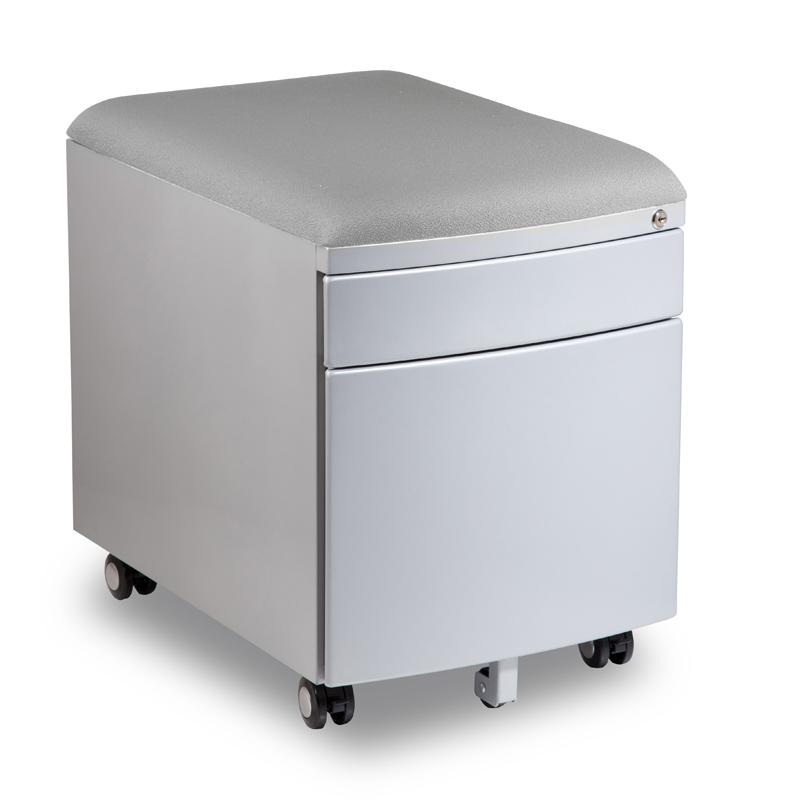 Kontejner k psacímu stolu Mayer PROFI3 světle šedý čalouněný
