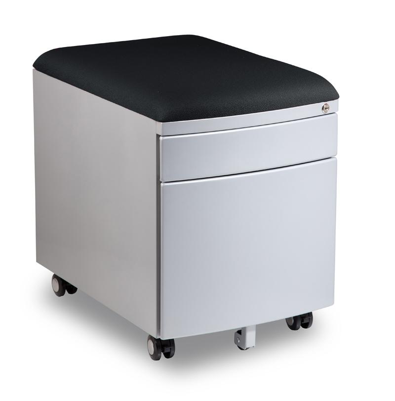 Kontejner k psacímu stolu Mayer PROFI3 tmavě šedý čalouněný