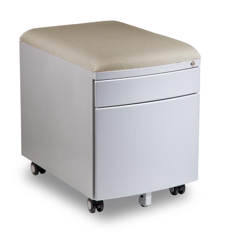 Kontejner k psacímu stolu Mayer PROFI3 bílý čalouněný
