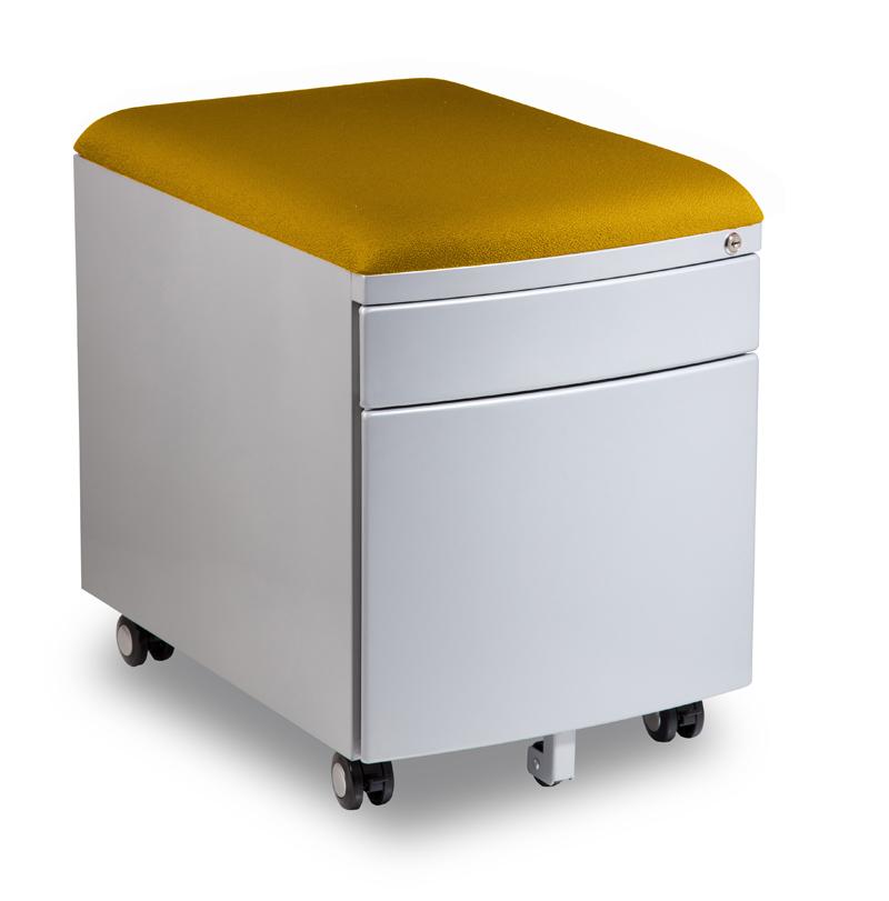 Kontejner k psacímu stolu Mayer PROFI3 žlutý čalouněný