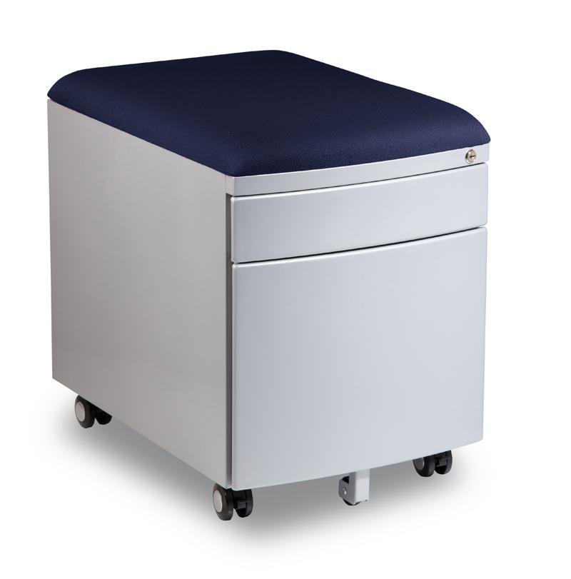 Kontejner k psacímu stolu Mayer PROFI3 tmavě modrý čalouněný