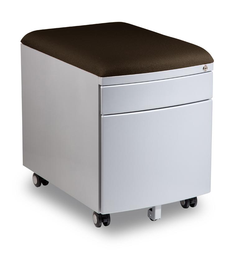 Kontejner k psacímu stolu Mayer PROFI3 tmavě hnědý čalouněný
