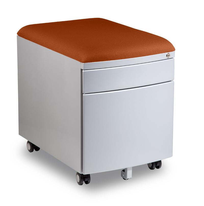 Kontejner k psacímu stolu Mayer PROFI3 oranžový čalouněný