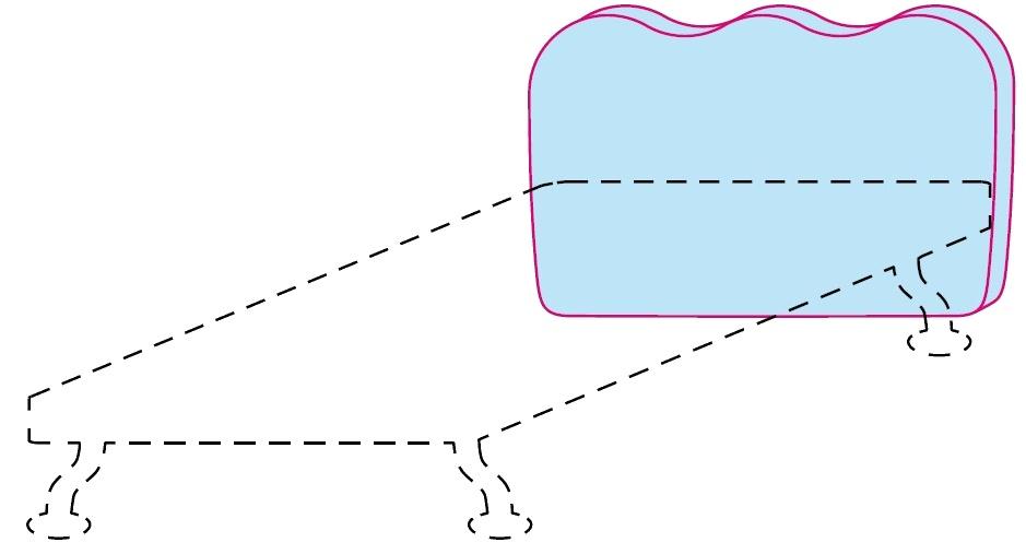 Čelo postele Colombini GOLF WAVE – šířka 98 cm