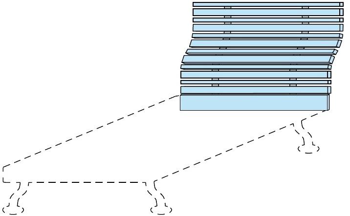 Čelo postele Colombini GOLF WOODY – šířka 98 cm
