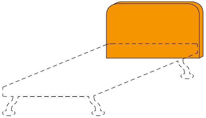 Čalouněné čelo postele Colombini GOLF RAFAEL– šířka 98 cm