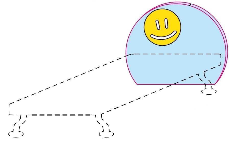 Čelo postele Colombini GOLF SMILE – šířka 88 cm