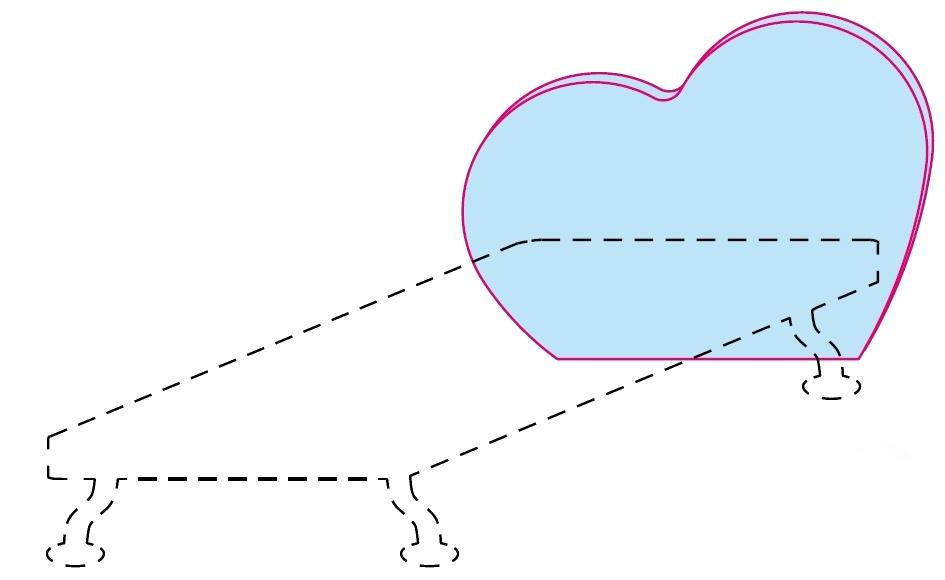 Čelo postele Colombini GOLF CUORE – šířka 88 cm