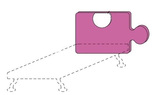 Čelo postele Colombini GOLF PUZZLE – šířka 88 cm
