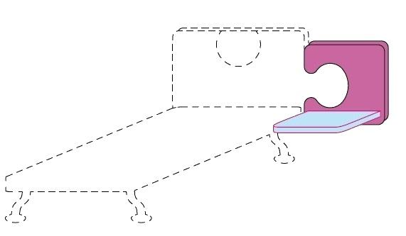 Čelo postele Colombini GOLF APPENDICE– šířka 88 cm
