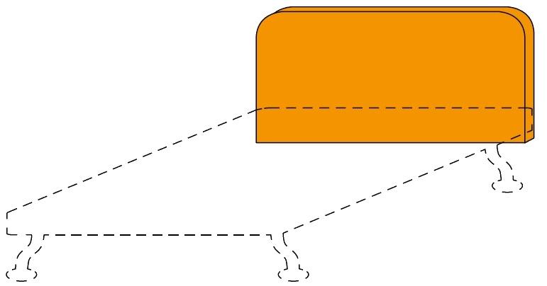 Čalouněné čelo postele Colombini GOLF RAFAEL– šířka 128 cm
