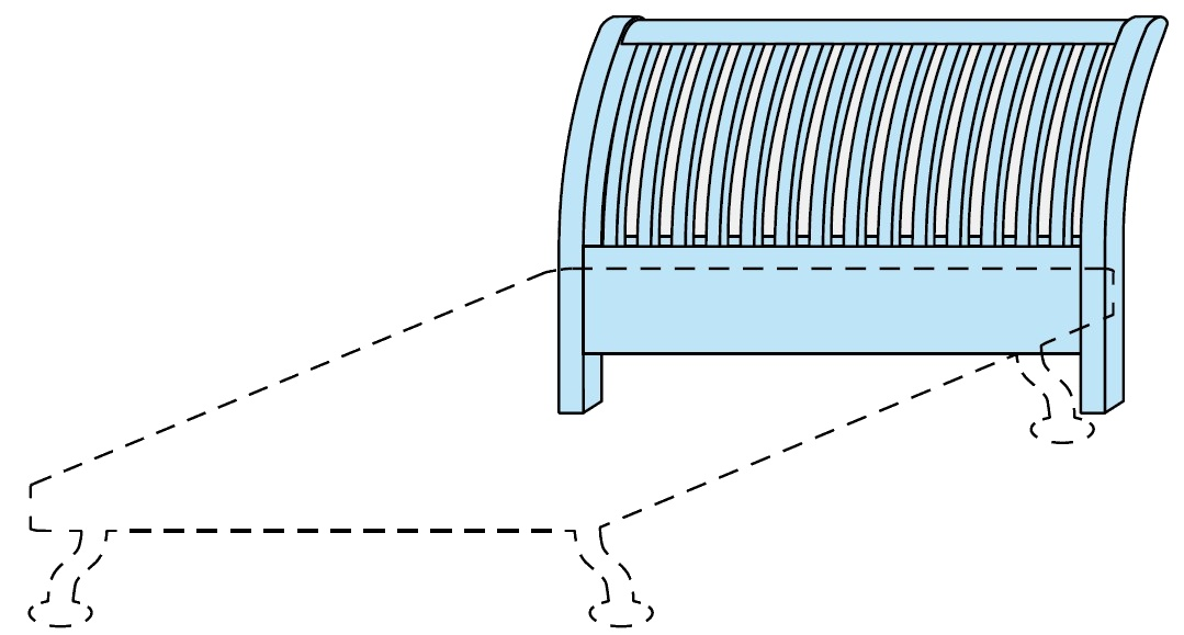 Čelo postele Colombini GOLF LINEE k posteli 194 x 128 cm