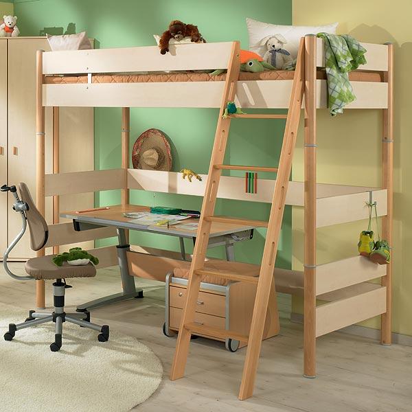 Zvýšená postel 183 cm Paidi ONDO s šikmým žebříkem