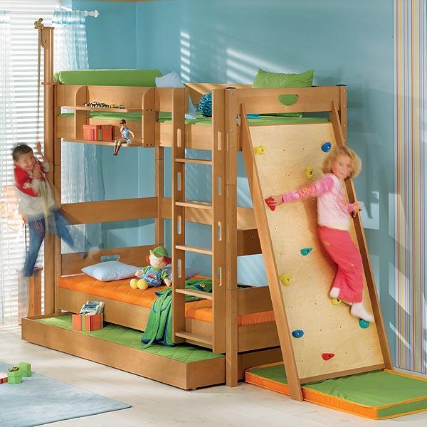 Zvýšená postel 183 cm Paidi VARIETTA s rovným žebříkem