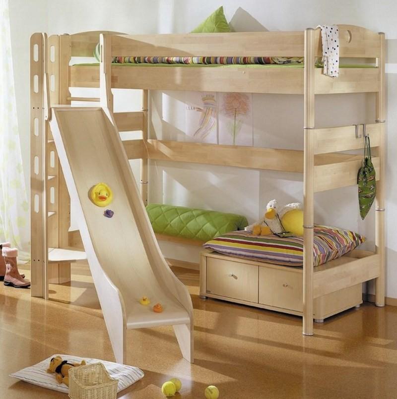 Zvýšená postel Paidi FLEXIMO s věží a skluzavkou
