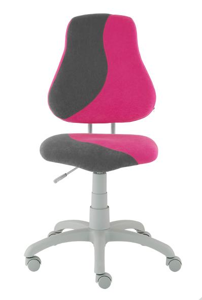 Dětská rostoucí židle ALBA FUXO S-line růžovo-šedá