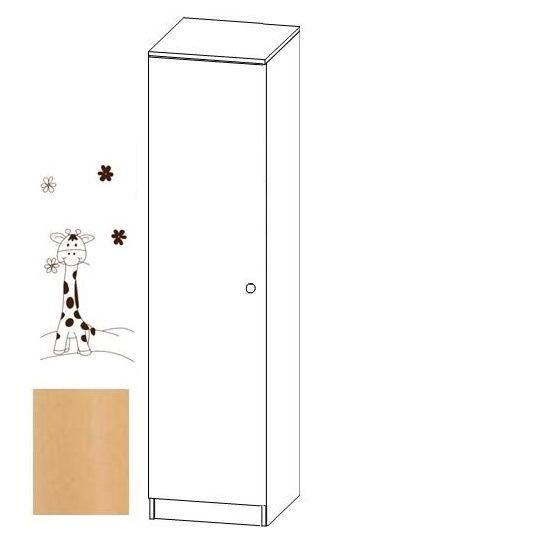Jednodílná šatní skříň Faktum MIA Buk/motiv Žirafa