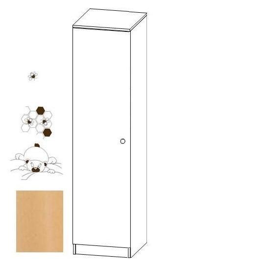 Jednodílná šatní skříň Faktum MIA Buk/ motiv Medvídek