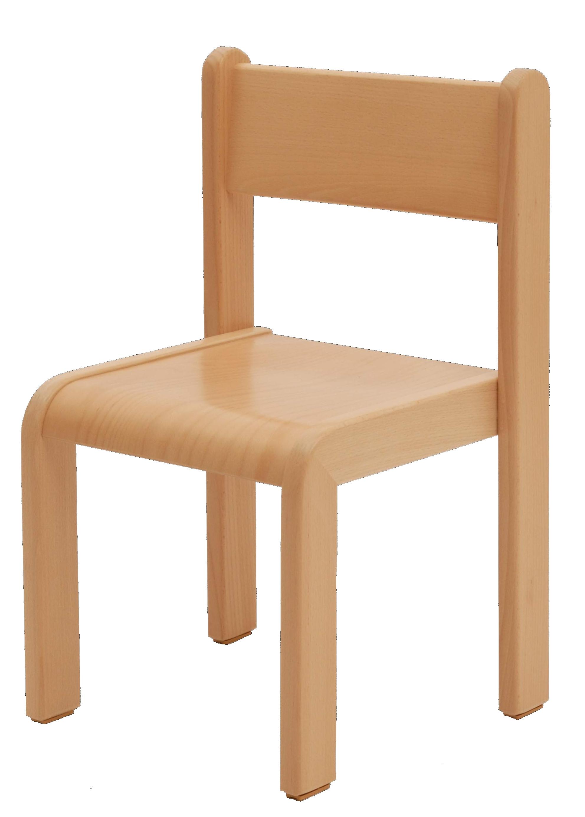 Dětská židlička bez područky 18 cm DE přírodní